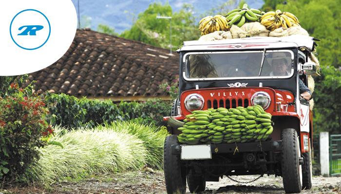 Canastos con frutas en el techo de un Jeep: un excéntrico paisaje cultural del tour por Santander